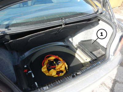 Bmw 3 Series E46 Battery Is Located In Luggage Compartment Trunk Under Right Trim 1